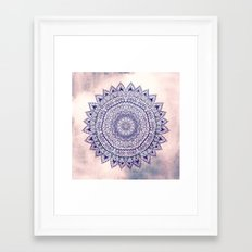 PASTEL PINK MANDALIKA DREAM Framed Art Print