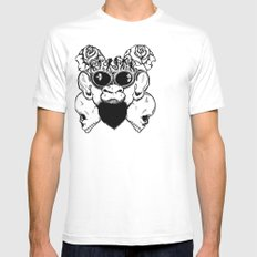 Rock Out Monkey Boy Mens Fitted Tee White SMALL