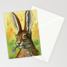 Funny Rabbits - One daisy for you 488 Stationery Cards
