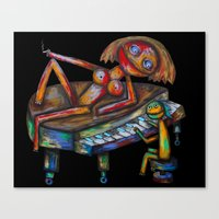 Every Morning Jack Plays… Canvas Print
