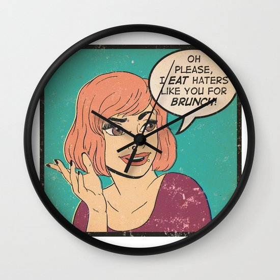 Haters Wall Clock