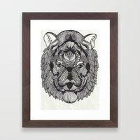Tiger By Mieke Kristine Framed Art Print