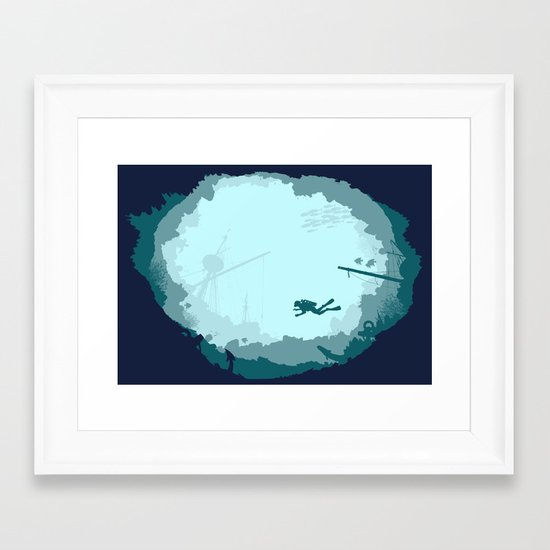 Dive Deep Framed Art Print