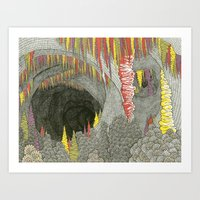 Color Cave Art Print