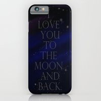 """iPhone & iPod Case featuring """"I love you to the moon and back, my love."""" by Kiki Christina"""