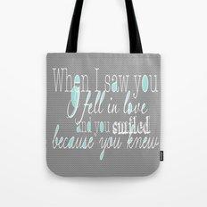 When I Saw You (Mint) Tote Bag