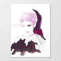 Ethno fashion illustration Canvas Print