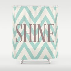 Chevron Shine Shower Curtain
