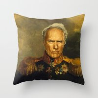 Clint Eastwood - Replace… Throw Pillow