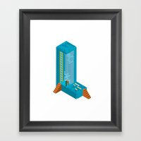 Letter L Framed Art Print