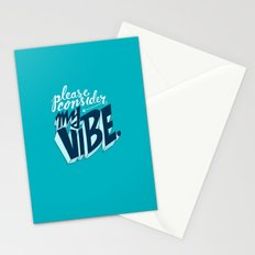 Please Consider My Vibe Stationery Cards
