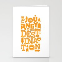 Orange Type Journey Quote  Stationery Cards