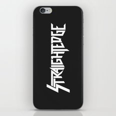 Straight Edge Metal Logo iPhone & iPod Skin