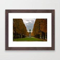 Statue in Paris Framed Art Print