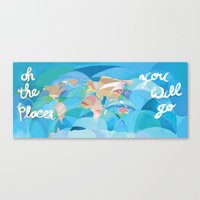 Oh the Places You will Go Canvas Print