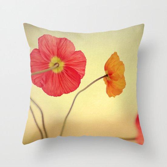 Les Jolies Fleurs Throw Pillow