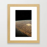 Earth Space Framed Art Print