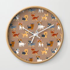 AUSSIE DOGS Wall Clock