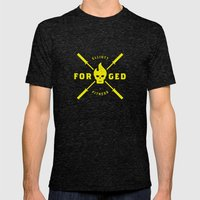 Forged Mens Fitted Tee Tri-Black SMALL