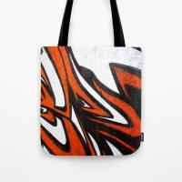 White N' Red Tote Bag