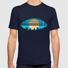 Eye On The City Mens Fitted Tee Navy SMALL