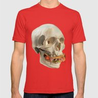 Death By Taco Mens Fitted Tee Red SMALL