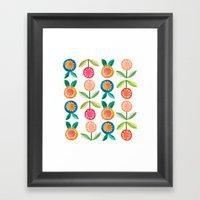 Water Colour Flowers Framed Art Print