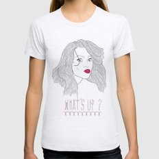 What's Up ? Womens Fitted Tee Ash Grey SMALL