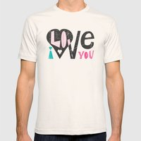 Love Note Mens Fitted Tee Natural SMALL