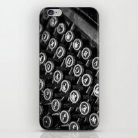 Black And White Typewrit… iPhone & iPod Skin