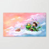 Butterflies Picnic In The Sky Canvas Print