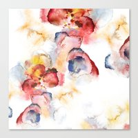 Abstract wWater Colour Canvas Print