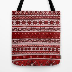 Yzor pattern 005 red Tote Bag