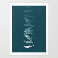 Fallen Feather Art Print