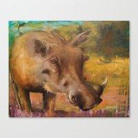 Common Warthog (Phacocho… Canvas Print
