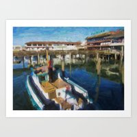 Fishermans Wharf - San Francisco Print No. 134 Art Print