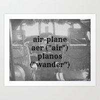 Airplane Definition Art Print