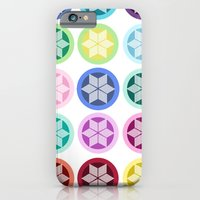 iPhone & iPod Case featuring Colorful Snowflake Print by Devin Marie
