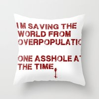 I Can Change The World! Throw Pillow