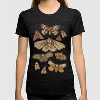 Moths Womens Fitted Tee Tri-Black SMALL