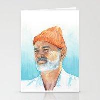 Steve Zissou Art | Watercolor Portrait Stationery Cards