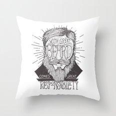 The Beard Throw Pillow