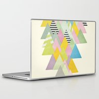 french Laptop & iPad Skins featuring French Alps by Cassia Beck
