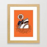 Da Chicago Shark Framed Art Print