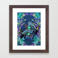 Floral Birds Framed Art Print