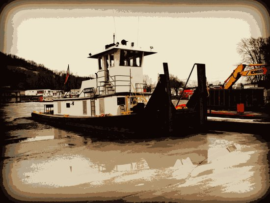 Tugboat II  Art Print