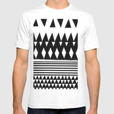 Retro Mens Fitted Tee SMALL White