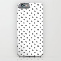 Grey and white dots - classy college student collection iPhone 6 Slim Case
