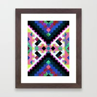 Hana Geometric Framed Art Print