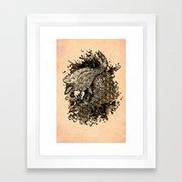 GOLDEN PISCES Framed Art Print